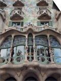Facade of Casa Batllo by Gaudi, UNESCO World Heritage Site, Passeig de Gracia, Barcelona, Spain Art by Nico Tondini