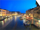 Grand Canal at Dusk, Venice, UNESCO World Heritage Site, Veneto, Italy, Europe Prints by Amanda Hall