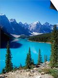 Lake Moraine, Valley of the Ten Peaks, Banff National Park, Alberta, Canada Prints by Hans Peter Merten