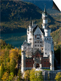 Romantic Neuschwanstein Castle and German Alps During Autumn, Southern Part of Romantic Road, Bavar Poster by Richard Nebesky