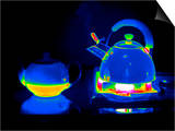 Kettle And Teapot, Thermogram Prints by Tony McConnell