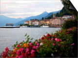 Town of Bellagio and Lake Como, Lombardy, Italian Lakes, Italy, Europe Prints by Frank Fell