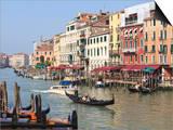 Gondolas on the Grand Canal, Venice, UNESCO World Heritage Site, Veneto, Italy, Europe Posters by Amanda Hall