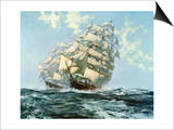 Ariel and Taeping Prints by Montague Dawson