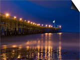 Ventura Pier at Night, Ventura, California, United States of America, North America Print by Antonio Busiello
