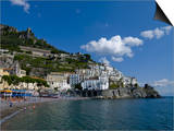 The Town of Amalfi, UNESCO World Heritage Site, Campania, Italy, Europe Art by Charles Bowman