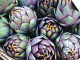 Italian Artichokes (With Spines) in a Basket Print by Mario Matassa