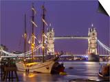 Tower Bridge and Tall Ships on River Thames, London, England, United Kingdom, Europe Prints by Stuart Black