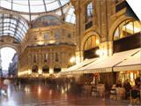 Restaurant, Galleria Vittorio Emanuele, Milan, Lombardy, Italy, Europe Prints by Vincenzo Lombardo