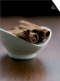 Cinnamon Sticks in Small Bowl Art by Henrik Freek
