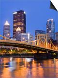 Andy Warhol Bridge (7th Street Bridge) over the Allegheny River, Pittsburgh, Pennsylvania, United S Poster by Richard Cummins