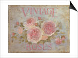 Vintage Rose Posters by Debi Coules