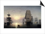 Sunset, Boston Harbor Prints by Fitz Hugh Lane