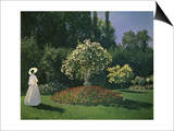 Woman in a Garden Posters by Claude Monet