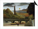 The Eiffel Tower Prints by Henri Rousseau