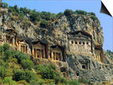 Lycian Rock Tombs, Dalyan, Turkey, Eurasia Prints by Jean O'callaghan
