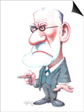 Sigmund Freud, Caricature Posters by Gary Brown