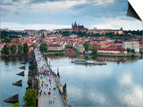 St Vitus Cathedral, Charles Bridge, River Vltava, UNESCO World Heritage Site, Prague Czech Republic Prints by Gavin Hellier