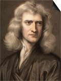1689 Sir Isaac Newton Portrait Young Prints by Paul Stewart