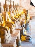 Buddhas at Wat Si Saket, the Oldest Temple in Vientiane, Laos, Indochina, Southeast Asia, Asia Print by Matthew Williams-Ellis