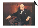 Sir Winston Churchill Print by Arthur Pan