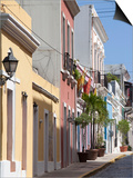 The Colonial Town, San Juan, Puerto Rico, West Indies, Caribbean, USA, Central America Art by Angelo Cavalli