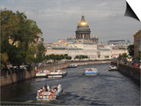 Dome of St. Isaac's Cathedral and Canal, St. Petersburg, Russia, Europe Prints by Rolf Richardson