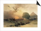 Approach of the Simoom, Desert of Giza Print by David Roberts