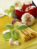 Ingredients for Italian Pasta Dish Prints