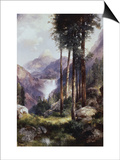 Vernon Falls, Yosemite Valley Posters by Thomas Moran