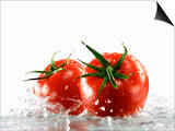 Two Tomatoes Surrounded with Water Posters by Michael Löffler