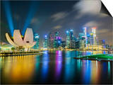 Art Science Museum and City Skyline from Marina Bay, Singapore, Southeast Asia, Asia Print by Gavin Hellier