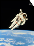 Astronaut Bruce McCandless Walking In Space Posters by  NASA