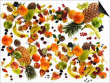 Many Different Types of Fruit Against White Background Prints by Karl Newedel