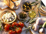 Ingredients for Mediterranean Dishes Prints by Martina Urban