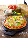 Tomato and Mozzarella Pizza with Basil Prints by Paul Williams