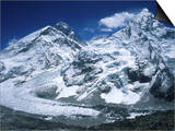 Mount Everest and Ama Dablam Seperated by a Glacier, Nepal Posters by Michael Brown