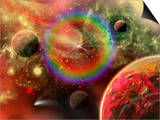 Artist's Concept Illustrating the Cosmic Beauty of the Universe Prints by  Stocktrek Images