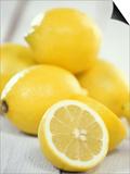 Lemons Poster by Alena Hrbkova