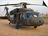 A UH-60L Black Hawk with Twin M240G Machine Guns Prints
