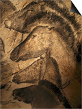 Stone-age Cave Paintings, Chauvet, France Poster by Javier Trueba