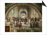 The School of Athens Plakat av Raphael,