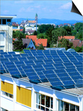Rooftop Solar Panels, Germany Art by Martin Bond