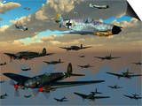 German Heinkel He 111 Bombers Gather over the English Channel Prints by  Stocktrek Images