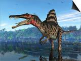 Spinosaurus Dinosaur, Artwork Prints by Walter Myers