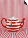 Striped Teapot with Tea Ball Prints by Sara Danielsson