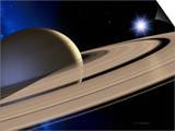 Saturn's Rings Print by Detlev Van Ravenswaay