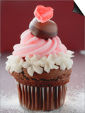 Cupcake for Valentine's Day Poster