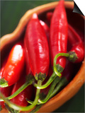 Red Chillies in a Small Dish Prints by Bernd Euler