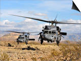 Two HH-60 Pavehawk Helicopters Preparing to Land Prints by  Stocktrek Images